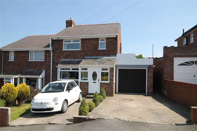 3 Bedrooms Semi Detached House for sale in Hillgarth, Castleside, Consett, DH8
