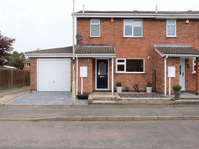3 Bedrooms Semi Detached House for sale in St. Annes Close, Syston