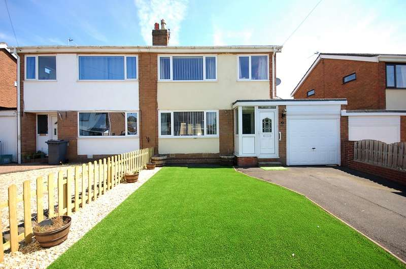 3 Bedrooms Semi Detached House for sale in Fairholmes Close, Thornton-Cleveleys