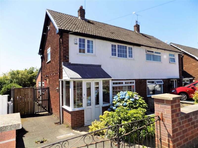 3 Bedrooms Semi Detached House for sale in Redhill Drive, Bredbury, Stockport