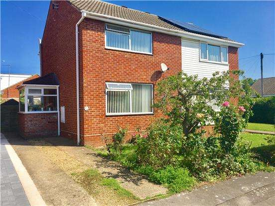2 Bedrooms Semi Detached House for sale in 61 Canterbury Leys, Newtown, TEWKESBURY, Gloucestershire, GL20 8BP