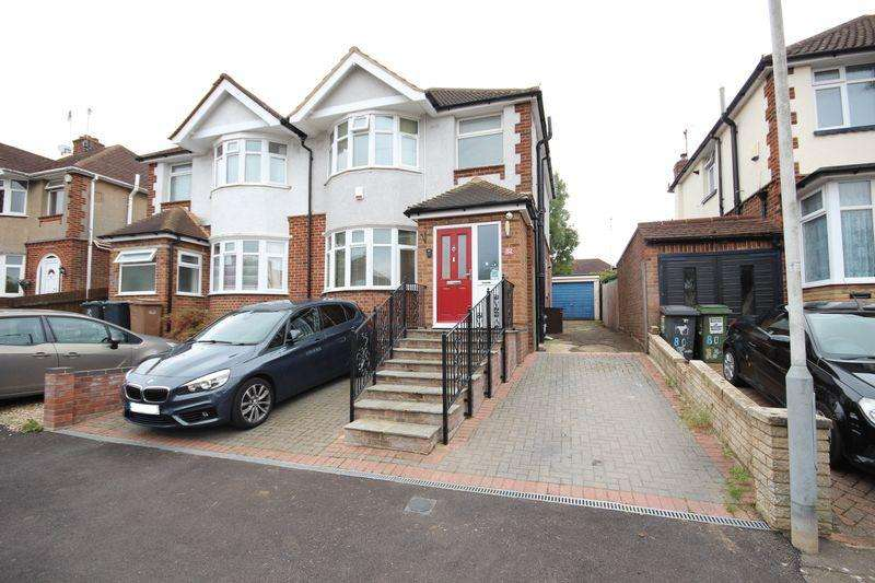 3 Bedrooms Semi Detached House for sale in 3 bed extended semi in Round Green with large rear garden....