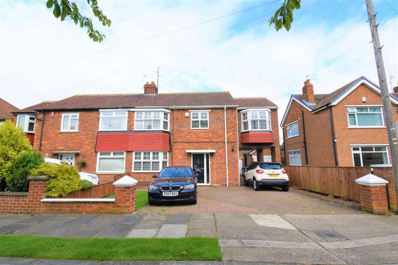 3 Bedrooms Semi Detached House for sale in Adcott Road, Acklam, Middlesbrough, TS5 7ES