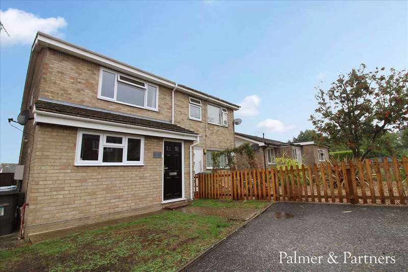 3 Bedrooms Semi Detached House for sale in Welhams Way, Brantham