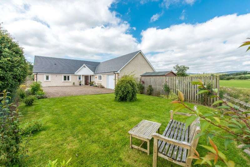 4 Bedrooms Detached Bungalow for sale in Burnside, Hartwoodburn, Selkirk, Scottish Borders, TD7