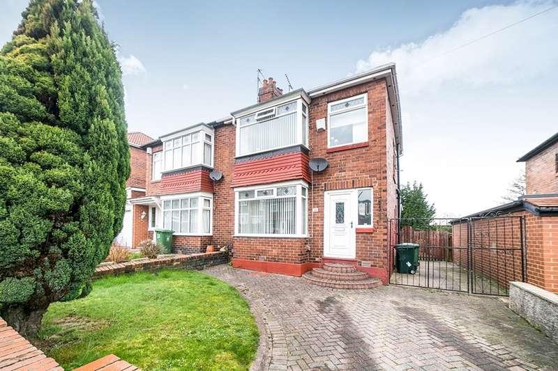 3 Bedrooms Semi Detached House for sale in Oakfield Road, Lobley Hill, Gateshead, Tyne And Wear, NE11