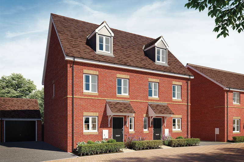 3 Bedrooms Town House for sale in The Rosewood, Greenway Place, Wixams, Bedford, MK45