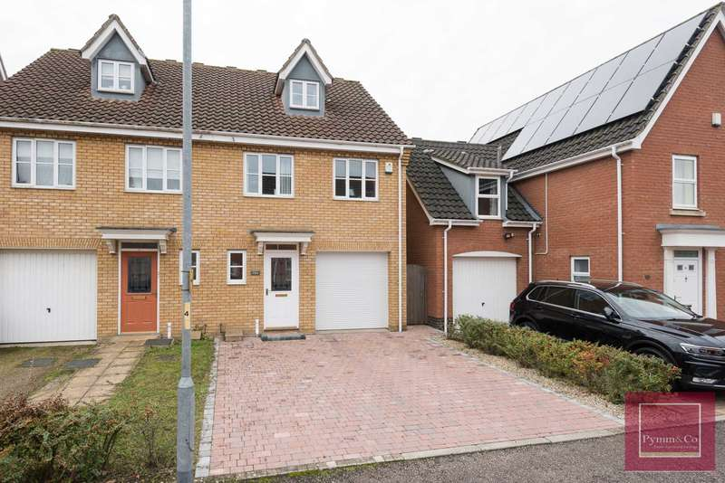 3 Bedrooms Semi Detached House for sale in Burroughs Way, Wymondham, NR18