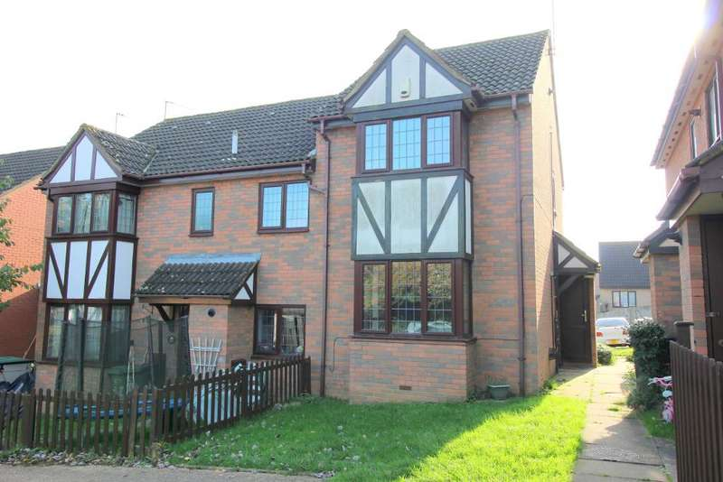2 Bedrooms End Of Terrace House for sale in Felbrigg Close, Luton, Bedfordhshire, LU2 8UL