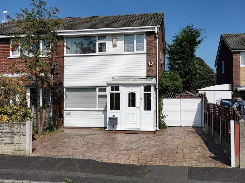 3 Bedrooms Semi Detached House for sale in Portland Close, Platt Bridge, Wigan