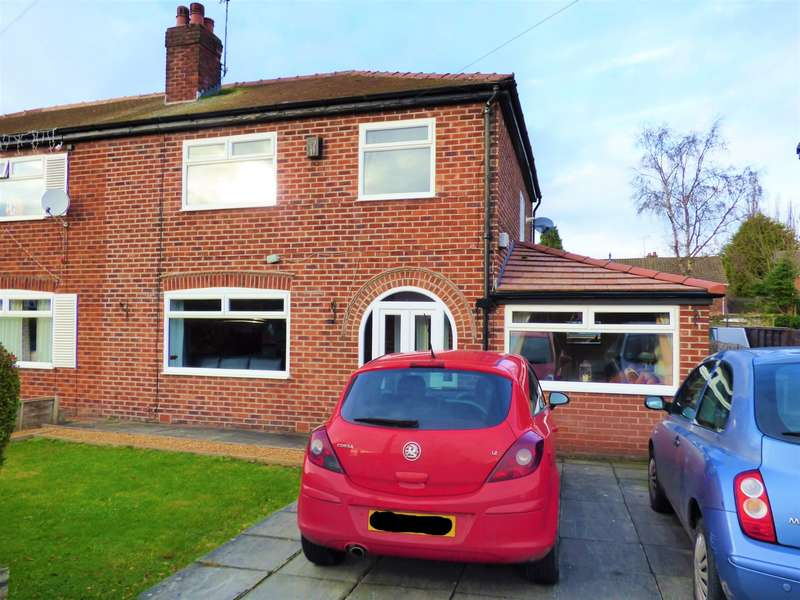3 Bedrooms Semi Detached House for sale in Aldwyn Crescent, Hazel Grove, Stockport, SK7