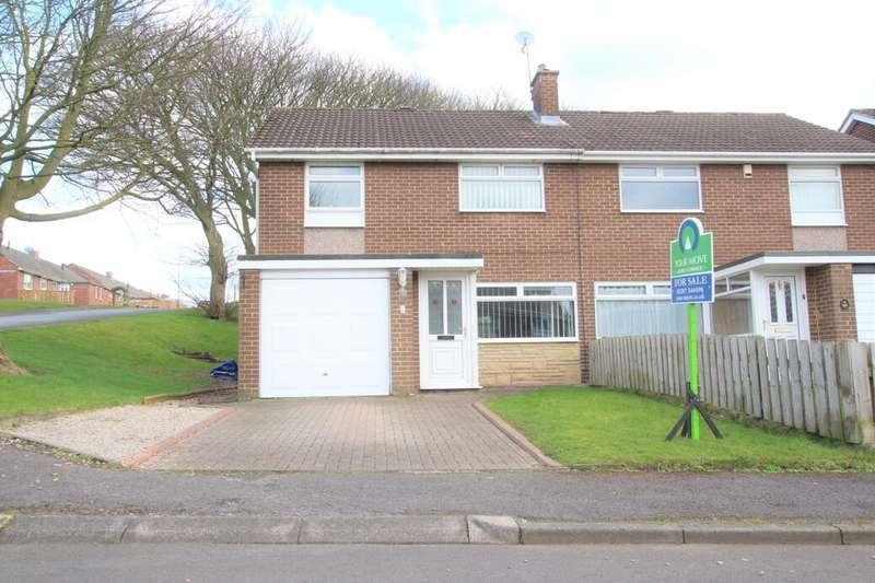 3 Bedrooms Semi Detached House for sale in Brackenridge, Burnopfield, Newcastle Upon Tyne, NE16
