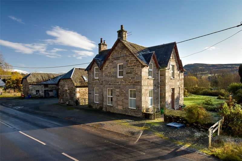 3 Bedrooms Detached House for sale in Weem Farm, Weem, Aberfeldy, Perthshire, PH15