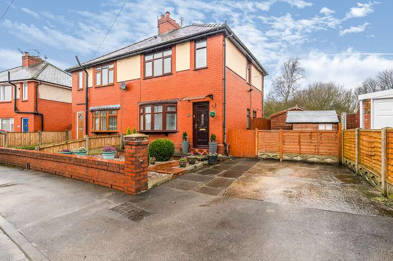 2 Bedrooms Semi Detached House for sale in Flockton Avenue, Standish Lower Ground, Wigan, Greater Manchester, WN6