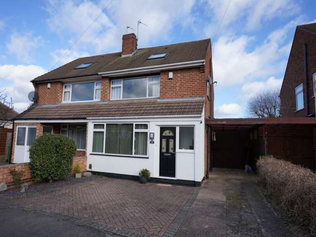 4 Bedrooms Semi Detached House for sale in Brookside Road Loughborough