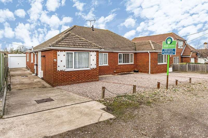 3 Bedrooms Semi Detached Bungalow for sale in Princes Avenue, Minster On Sea, Sheerness, ME12