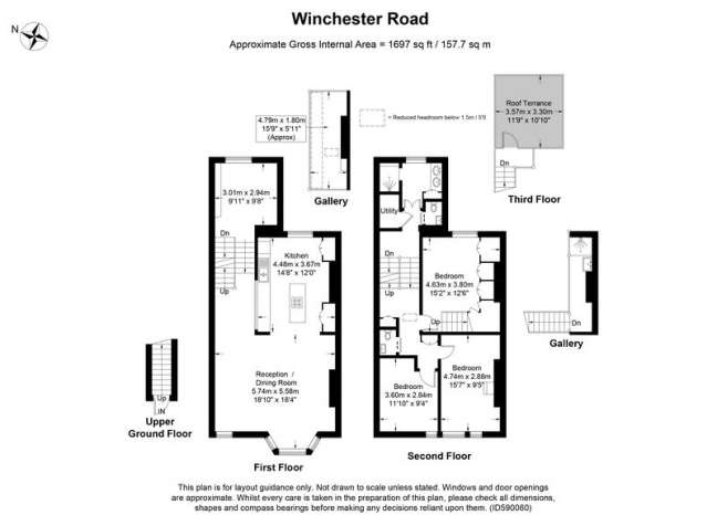 3 Bedrooms Flat for sale in Winchester Road, London, NW3
