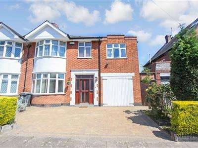 4 Bedrooms Semi Detached House for sale in Ashleigh Road, Leicester