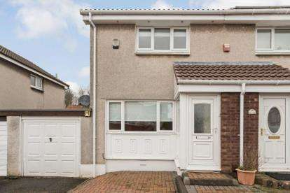 2 Bedrooms Semi Detached House for sale in Barony Court, Girdle Toll, Irvine, North Ayrshire