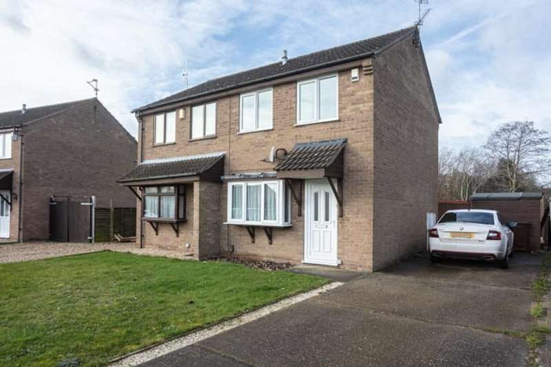 2 Bedrooms Semi Detached House for sale in Lydd Close, Lincoln, Lincolnshire, LN6
