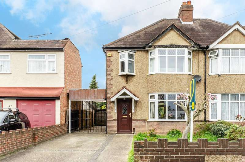 3 Bedrooms Semi Detached House for sale in Boundaries Road, Feltham, TW13