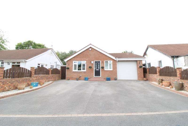 2 Bedrooms Detached Bungalow for sale in Celadon Close, Lemington Rise, Newcastle Upon Tyne