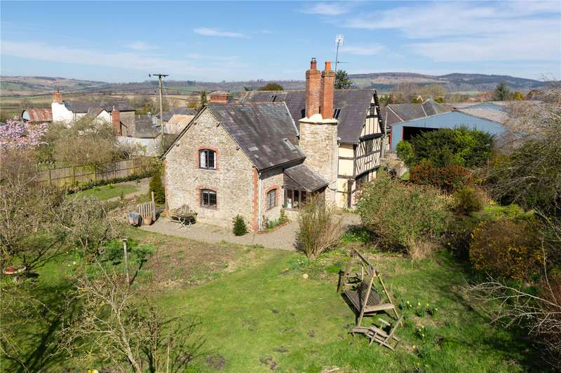 5 Bedrooms Detached House for sale in The Old Farmhouse, Leinthall Starkes, Ludlow, Herefordshire, SY8