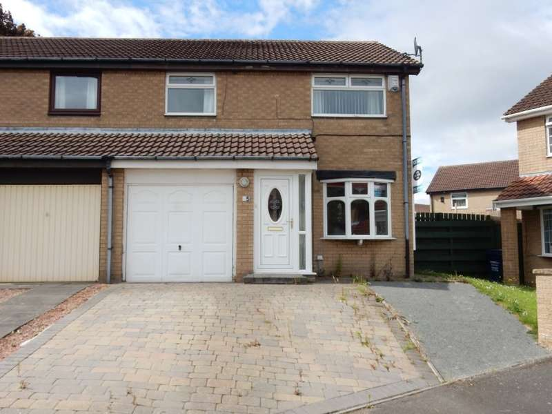 3 Bedrooms Semi Detached House for sale in 35 Dereham Court, Newcastle Upon Tyne, Tyne And Wear