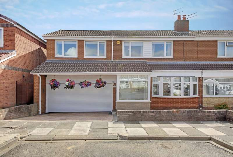 4 Bedrooms Semi Detached House for sale in Ridsdale Close, Wallsend, NE28
