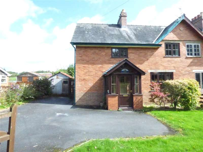 3 Bedrooms Semi Detached House for sale in 3 Glan Wye View, Llanfaredd, Builth Wells, Powys, LD2 3UF