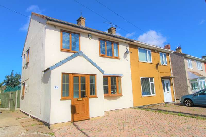 3 Bedrooms Semi Detached House for sale in Derry Grove, Thurnscoe, Rotherham, South Yorkshire, S63