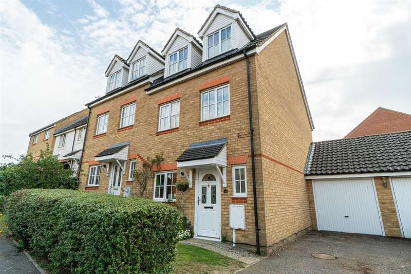 3 Bedrooms Town House for sale in Guernsey Way, Kennington, Ashford, Kent,TN24 9LW