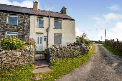 2 Bedrooms Semi Detached House for sale in Cilgwyn, Carmel, Caernarfon, Gwynedd, LL54
