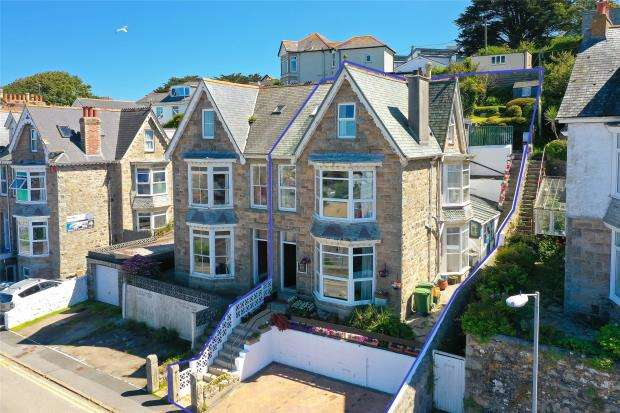 5 Bedrooms Semi Detached House for sale in Park Avenue, St. Ives, Cornwall