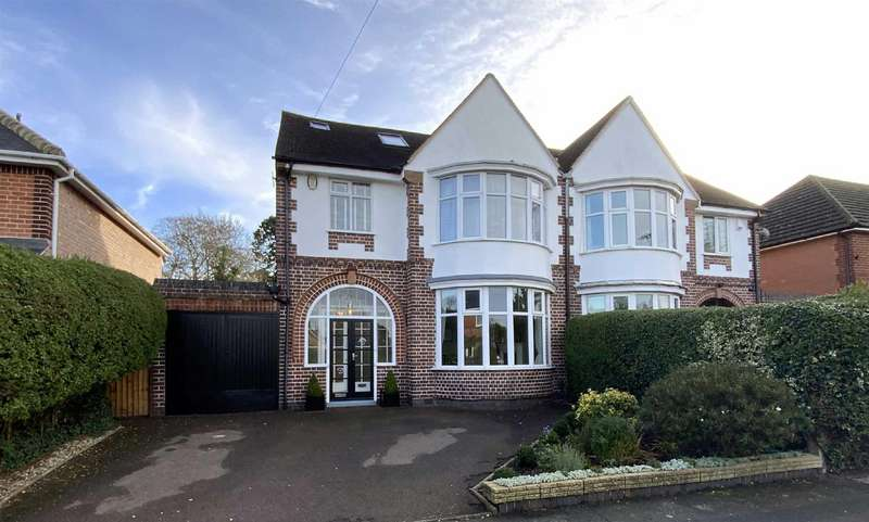 4 Bedrooms Semi Detached House for sale in Lyndon Drive, Oadby