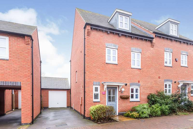 4 Bedrooms Semi Detached House for sale in Olympic Way, Hinckley, Leicestershire, LE10