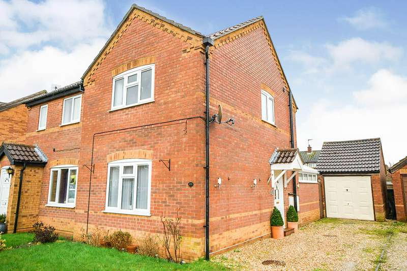 2 Bedrooms Semi Detached House for sale in Beechtree Close, Ruskington, Sleaford, Lincolnshire, NG34