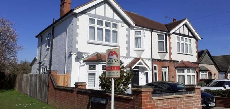 4 Bedrooms Semi Detached House for sale in Woodthorpe Road, Ashford, TW15