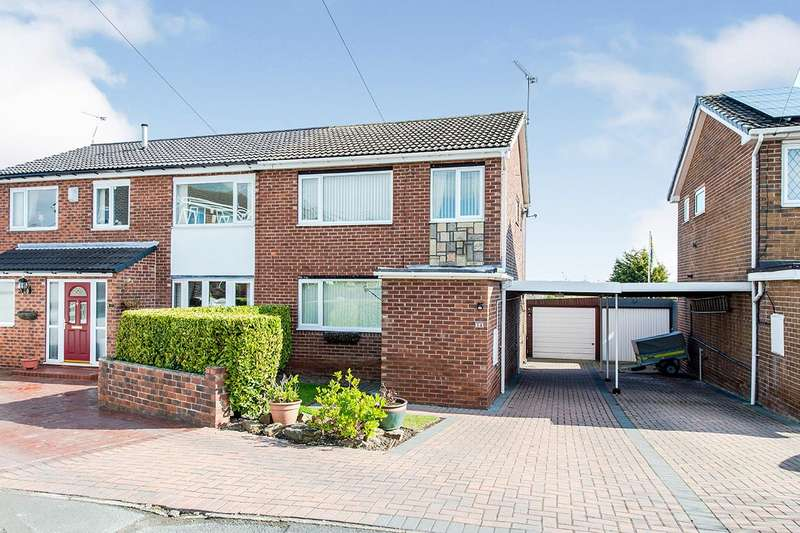 3 Bedrooms Semi Detached House for sale in Sandringham Avenue, Knottingley, West Yorkshire, WF11