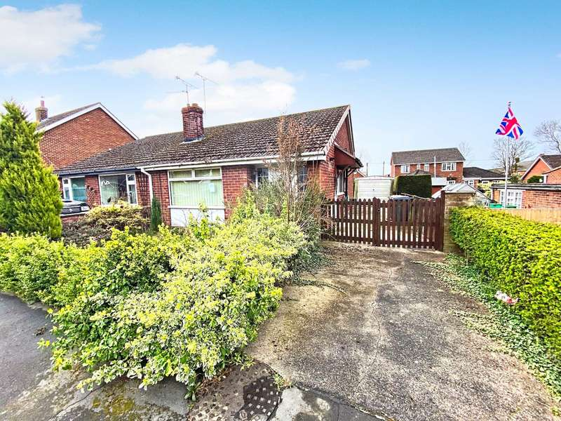 2 Bedrooms Semi Detached Bungalow for sale in Somerville Close, Waddington, Lincoln