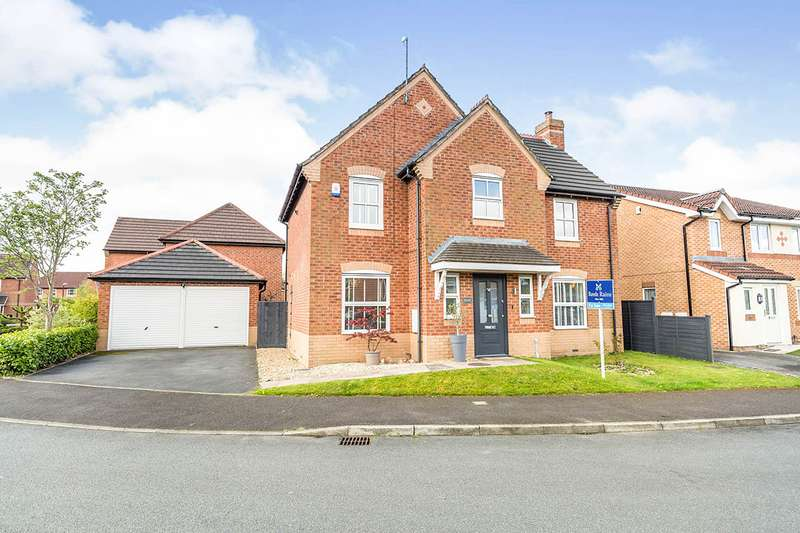 4 Bedrooms Detached House for sale in Mile Stone Meadow, Euxton, Chorley, Lancashire, PR7