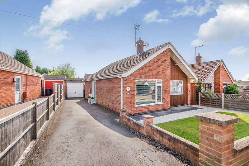 2 Bedrooms Detached Bungalow for sale in Arnolds Crescent, Newbold Verdon, Leicester, Leicestershire, LE9