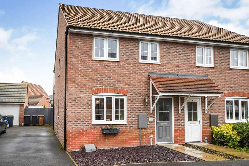 3 Bedrooms Semi Detached House for sale in Vespasian Way, North Hykeham, Lincoln, Lincolnshire, LN6