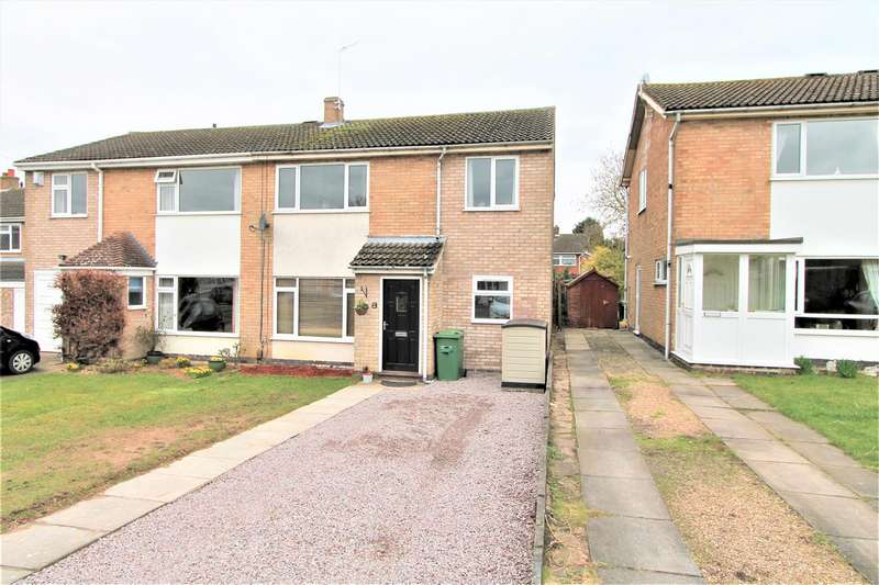 4 Bedrooms Semi Detached House for sale in Windrush Drive, Oadby, Leicester LE2
