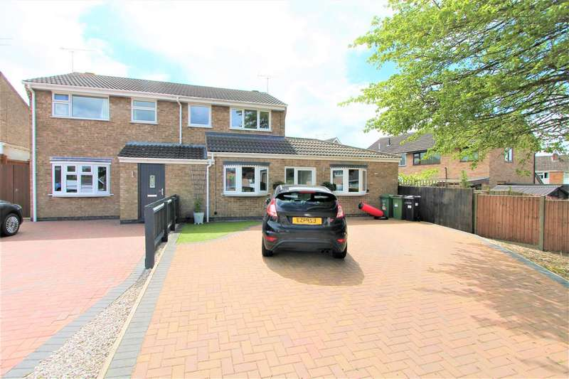 4 Bedrooms Semi Detached House for sale in Culworth Drive, Wigston, Leicester LE18