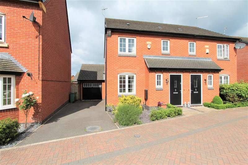 3 Bedrooms Semi Detached House for sale in Mill Field Avenue, Countesthorpe, Leicester LE8