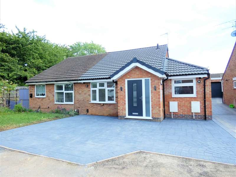 3 Bedrooms Semi Detached Bungalow for sale in Gilbert Close, Rushey Mead, Leicester