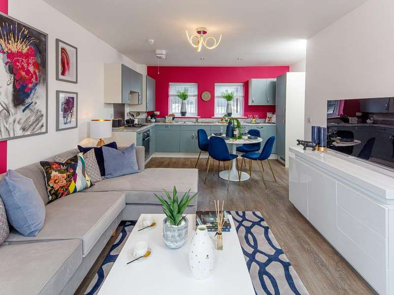 2 Bedrooms Flat for sale in Apartment Block H, Knightswood Place, New Road, Rainham, RM13 8QT