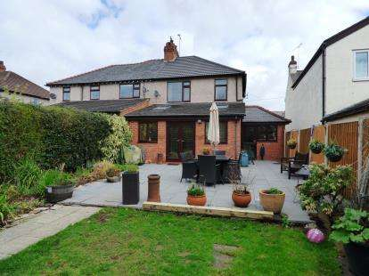 3 Bedrooms Semi Detached House for sale in Hermitage Road, Saughall, Chester, Cheshire, CH1