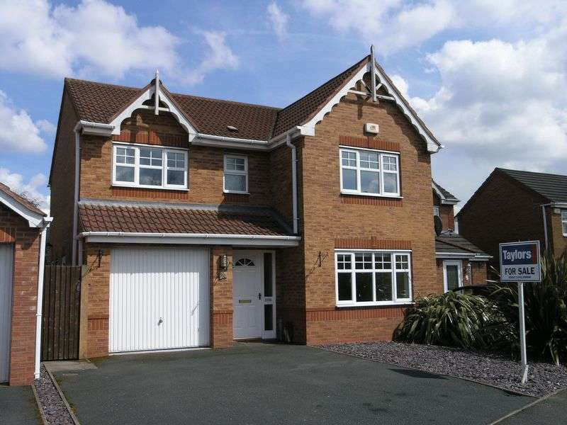 4 Bedrooms Detached House for sale in Greensand Drive, Coseley,